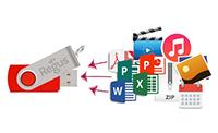 USB Card Wij kunnen uw USB sticks vooraf uploaden met presentaties, productcatalogussen of elk ander gewenst promotiemateriaal.